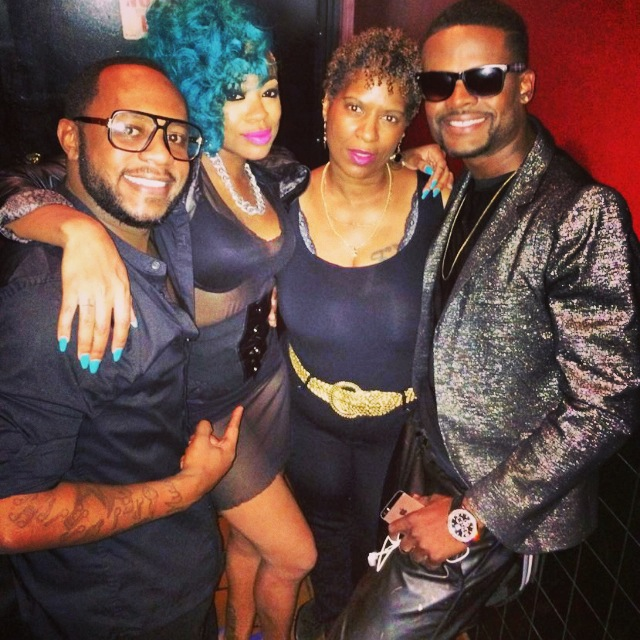 (L-R), Background singers T-Rex & Berryboo, Tanya Simpson of Sirius Heart and Soul